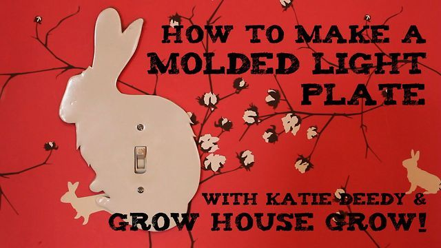 One Minute Tip - How to Make a Molded Light Plate by maxwell gillingham-ryan. with Katie Deedy and Grow House Grow!