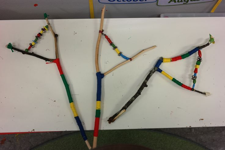 For Sami Week our class made these amazing instruments! They are not precisely Sami instruments but they are made from nature and recycled materials like they do. We wrapped them with thick cotton string and used buttons, beads and bells on a wire so they make a jingling sound.