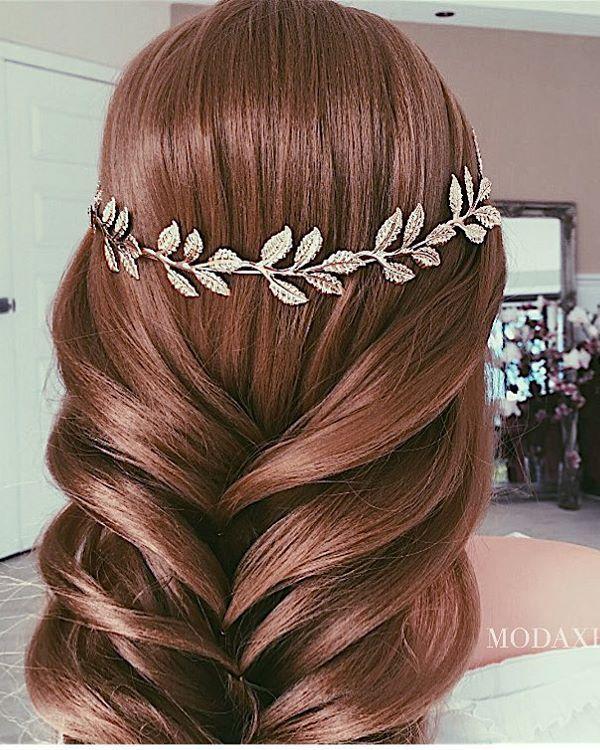 Ulyana Aster Romantic Long Bridal Wedding Hairstyles_17 ❤ See more: http://www.deerpearlflowers.com/romantic-bridal-wedding-hairstyles/