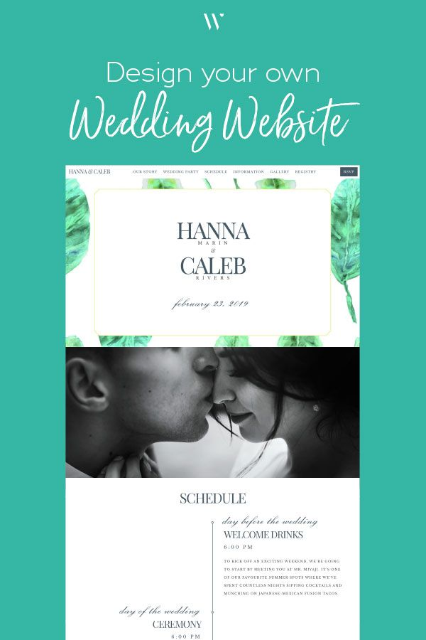 Create Your Own Wedding Website Using The Bali Collection A Tropical Watercolor Themed Design W Wedding Website Wedding Website Design Wedding Website Builder