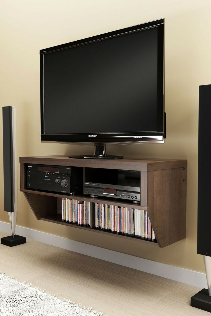 Wall Mounted AV Console // Good idea, could also DIY... #furniture_design