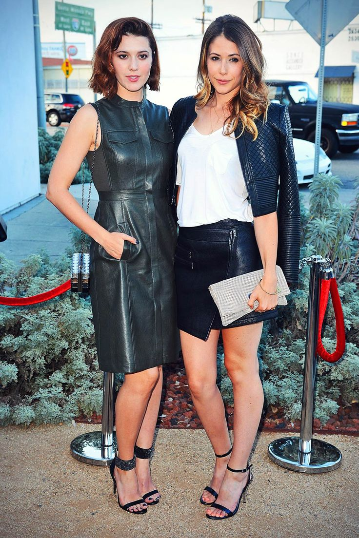 Amanda Crew and Mary Elizabeth Winstead opted to wear leather outfits as they attended BCBG Max Azria Resort 2016 collections in Los Angeles on…