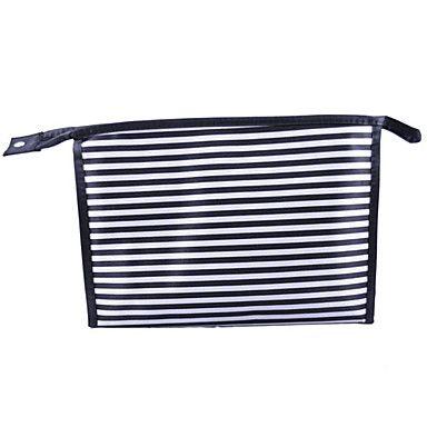 High Quality Classics Stripe Design 28*8*20cm Cosmetic Bag