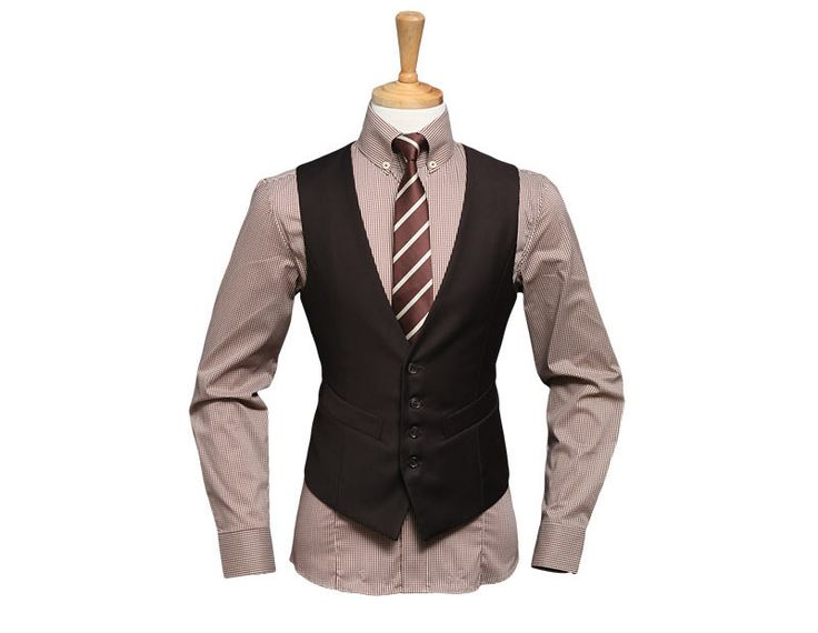 mens brown wedding vest | ... men_s_suit_sale_prom_suits_wedding_suits_lounge_suit_2_button_brown_5