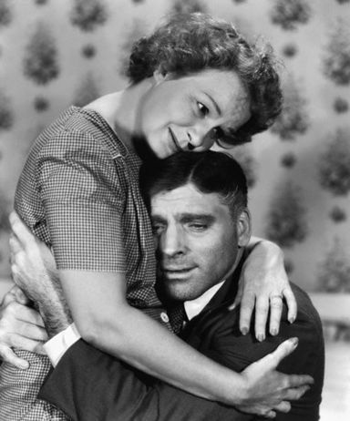 "Shirley Booth with Burt Lancaster in ""Come Back, Little Sheba"" (1952)"
