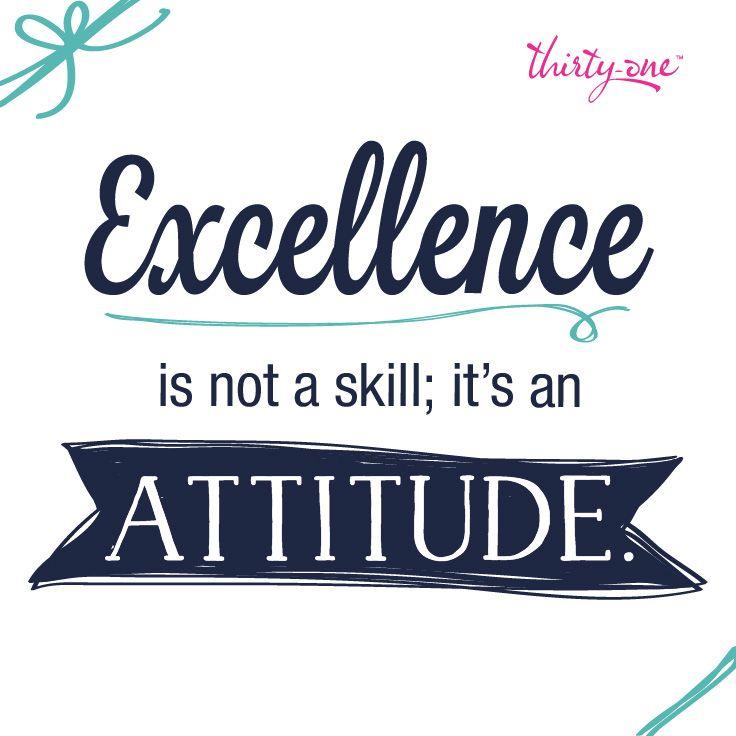 Do you strive for excellenc