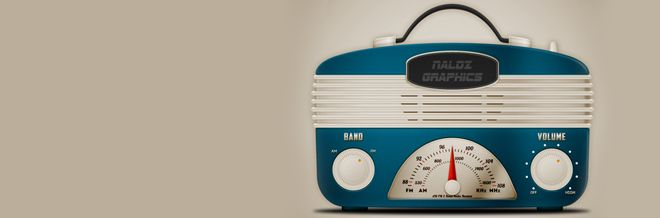 Create a Cool Vintage Radio Icon in Photoshop | Naldz Graphics Like this.