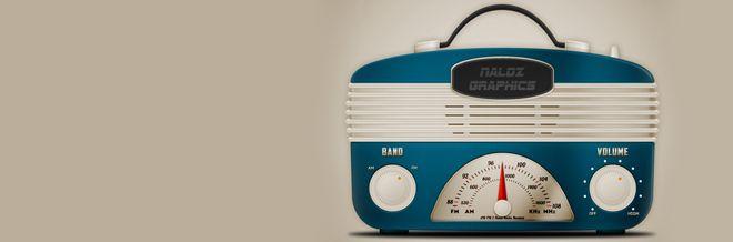 Create a Cool Vintage Radio Icon in Photoshop | Naldz Graphics Like this.