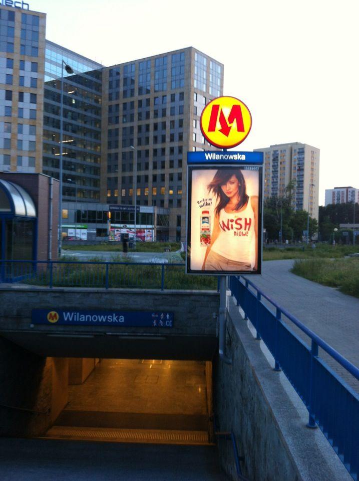 Metro Wilanowska w Warszawa, Województwo mazowieckie