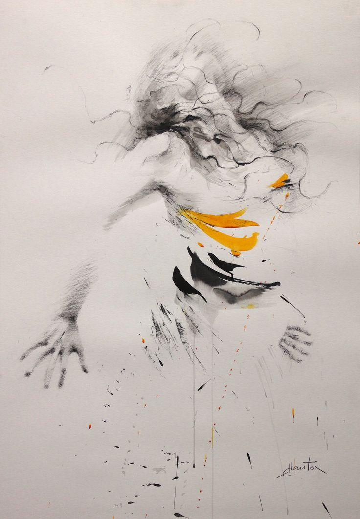 100x70cm #ink on #paper #ewa hauton