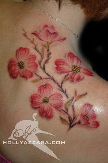 And THIS is it!!!!  Dogwood Tattoo~ ..  Represents my southern upbringing and my faith.  Love it!  Can't wait!