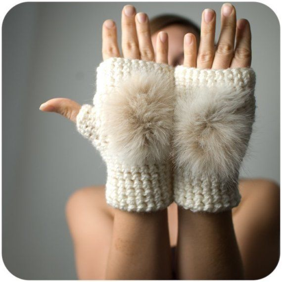 Clearance sale 50 off Furry Paws Fingerless by SaraLagace, $34.00