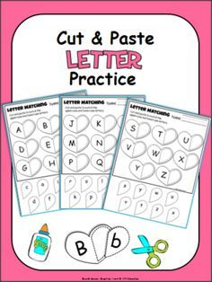 FREE Alphabet Match - Cut and Paste Heart Worksheets from Fun Classroom Creations on TeachersNotebook.com - (6 pages) - Cut and paste the matching uppercase and lowercase letters on the hearts. Includes the entire alphabet. Two letter writing pages are also included. Fun Kindergarten Valentine's Day activities.