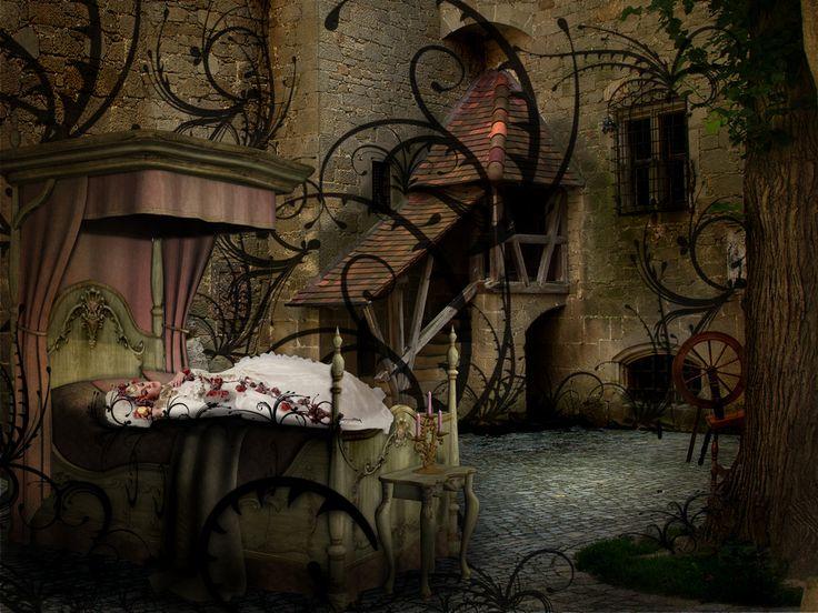 www.flickr.com/photos/kerstinfrank background browse.deviantart.com/resources/?q=Castle&offset=96#/... Bed : browse.deviantart.com/resources/?q=bed&offset=48#/d5f... Sleeping Beautiy: browse.deviantart.com/resources/?q=sleeping+beauty#/d5kzq62