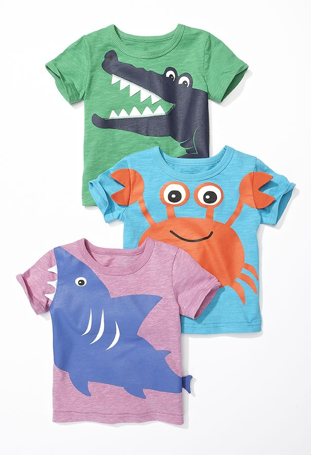 Just in time for summer, these adorable critter tees are a must-have for little ones! #kidsfashion #looksforless #summerfashion