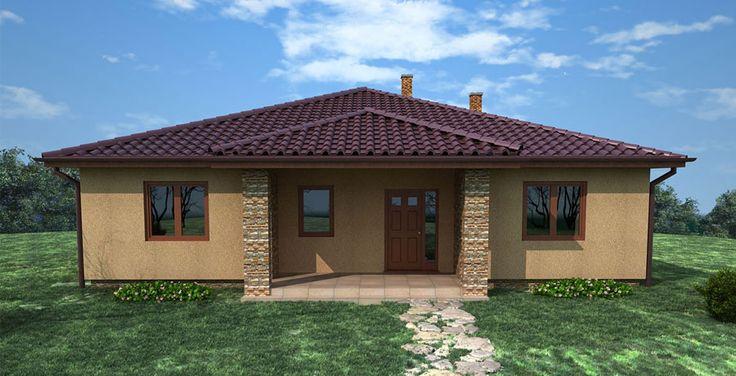 prizemny dom / valbova strecha / bungalov / bungalow pojekt
