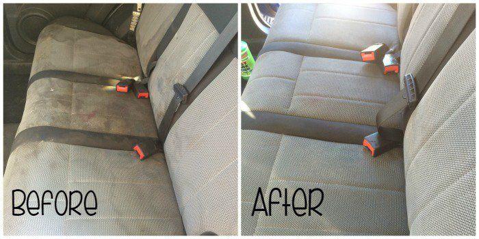Deja la tapicería de tu coche como nueva con una mezcla de agua mineral con gas, jabón, vinagre y un cepillo de raíces. Si siguen quedando manchas persistentes, una limpieza con una máquina de vapor puede ayudar a eliminarlas