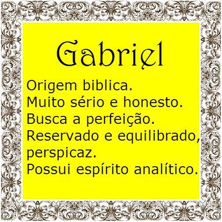 Significado do nome Gabriel | Significado dos Nomes                                                                                                                                                                                 Mais