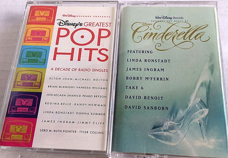 2 Disney Casette Tapes  Disney's Greatest Pop Hits and Cinderella