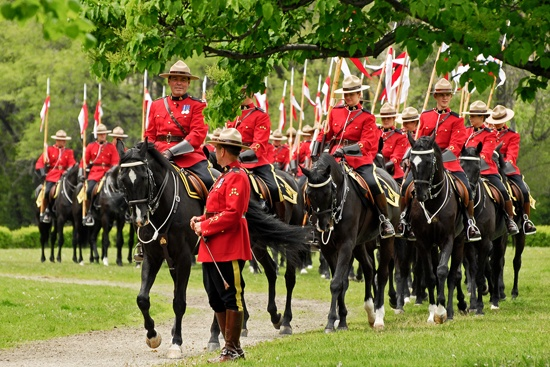 RCMP Musical Ride is a formal event showcasing equestrian skills preformed by 32 cavalry who are regular members of the force. The first ride was held in 1887 in Regina Sask
