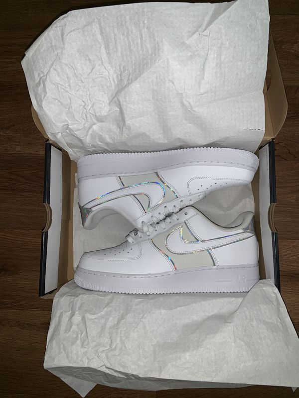 White Nike Air Force 1 size 10