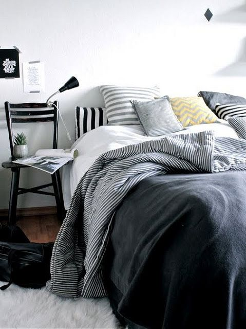 Cozy bedrooms and magazines...