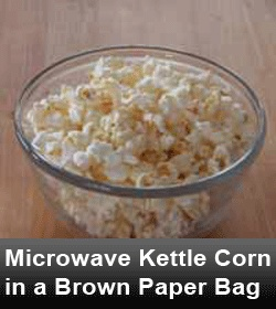 Microwave Kettle Corn in a Brown Paper Bag