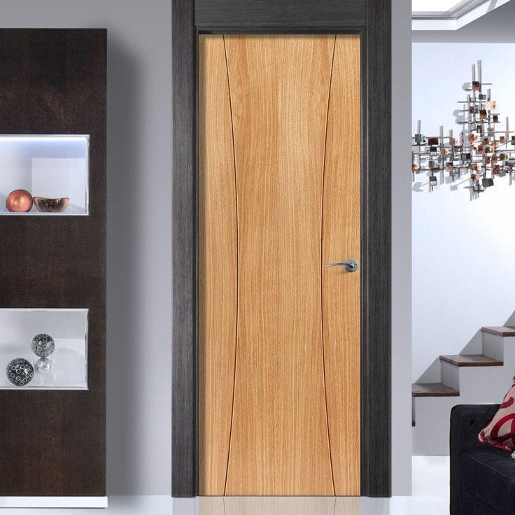 JB Kind Elements Arcos Flush Oak Veneered Door is Pre-finished. #contemporarydoor #designerdoor #moderndoor
