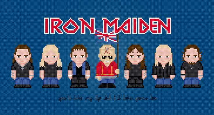 Iron Maiden - PixelPower - Amazing Cross-Stitch Patterns http://pixelpowerdesign.com/shop/music/product/show/424-iron-maiden