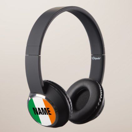 Irish flag of Ireland personalized gift idea Headphones - monogram gifts unique design style monogrammed diy cyo customize
