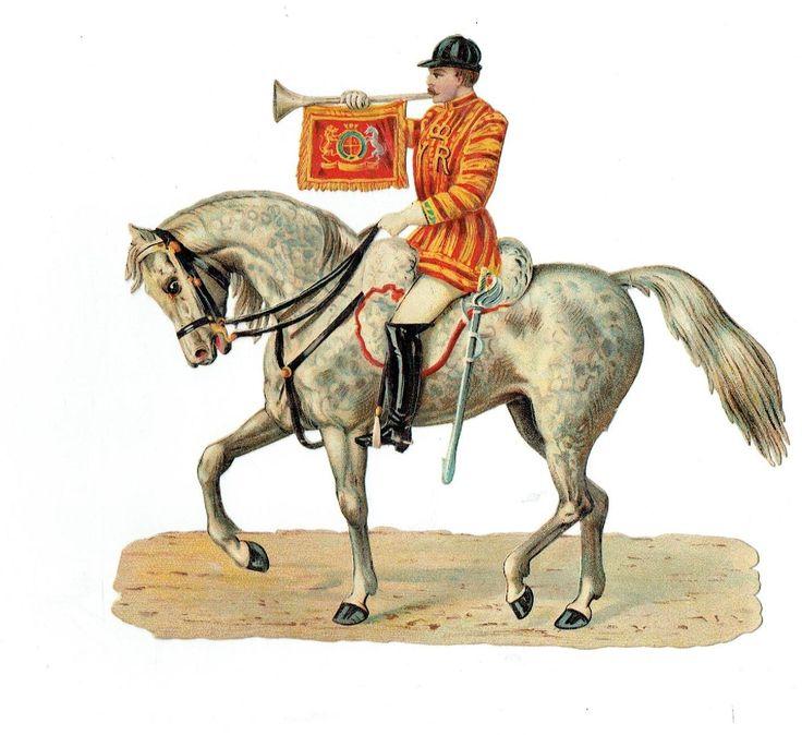 Un chromo - Découpis  - Cavalier à cheval - Soldat - sans défaut fr.picclick.com