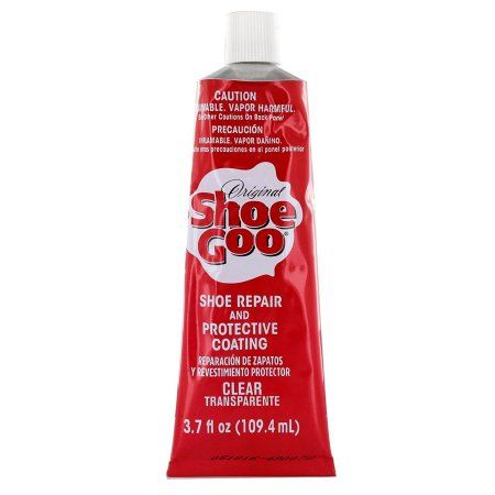 Shoe Goo Repair Adhesive for Fixing Worn Shoes or Boots, Clear, 3.7-Ounce Tube, USA, Brand Shoegoo