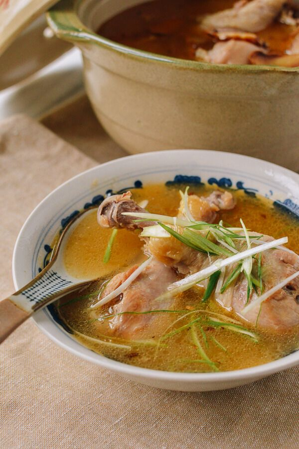 Taiwanese Sesame Oil Chicken Soup recipe, by thewoksoflife.com