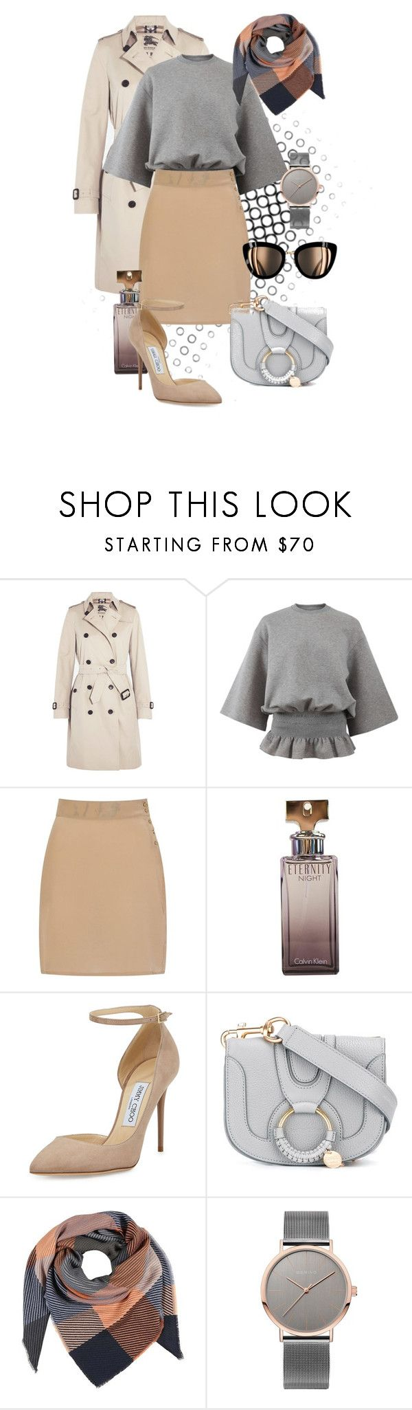 """""""Smart Casual"""" by nansy-393 ❤ liked on Polyvore featuring Burberry, STELLA McCARTNEY, Sophie Cameron Davies, Calvin Klein, Jimmy Choo and See by Chloé"""