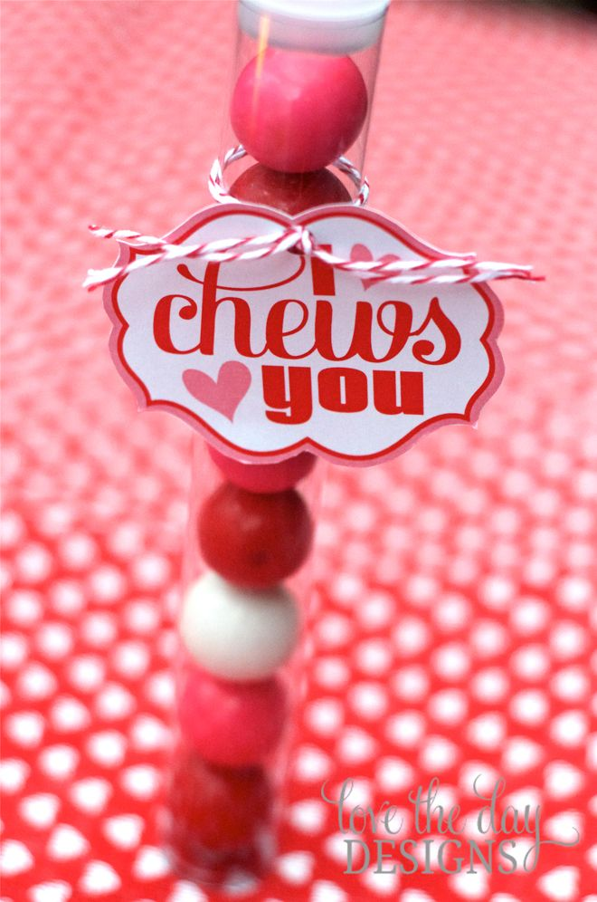 I Chews You printables from @Lindi - Love The Day ! Bubblegum Valentine