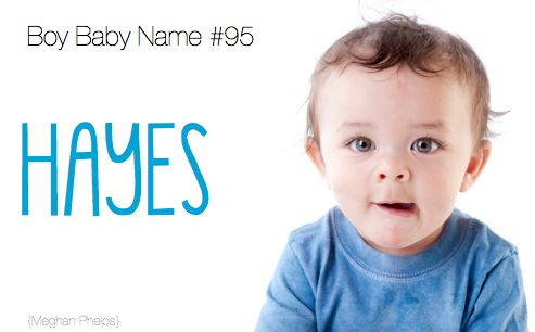 baby name: Hayes