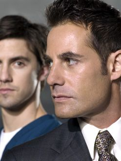 Heroes - pilot episode - Milo Ventimiglia as Peter Petrelli and Adrian Pasdar as Nathan Petrelli | Mitch Haaseth/NBC Photo