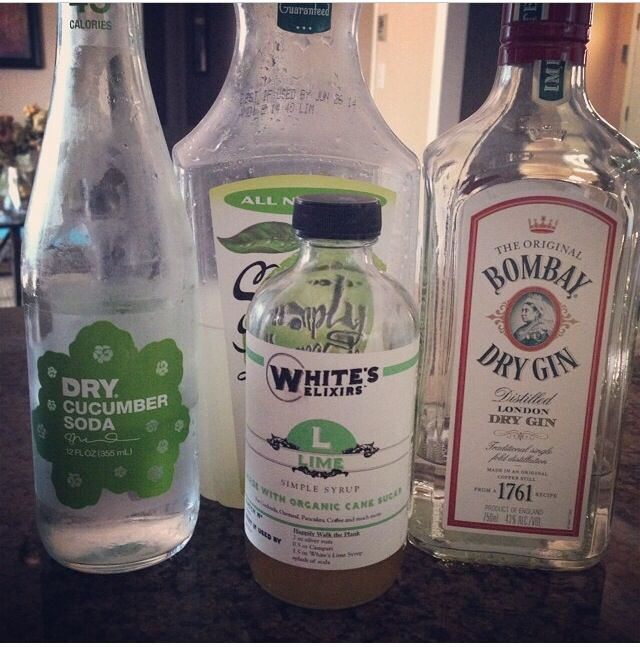 From one of our customers. Based on her description, we call it Ridiculously Refreshed ft. White's Elixirs Lime, cucumber DRY Soda Co. , Lime Simply Juice, and Bombay Sapphire Gin. #whiteselixirs, #whiteselixology