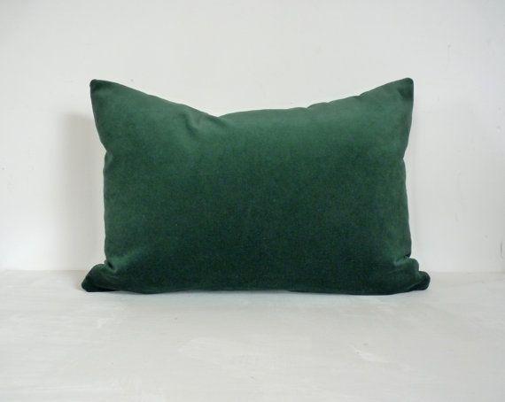 bottle green velvet pillow case // forest green by LiveLoveSmile