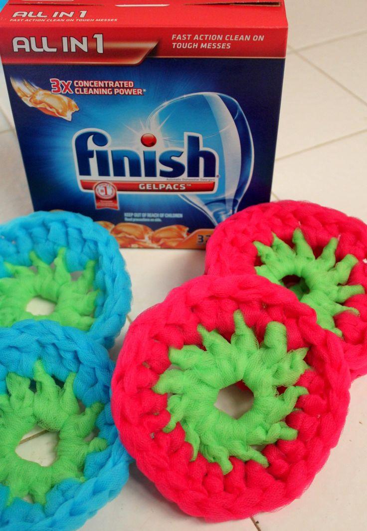 Mejores 12 imágenes de Scrubbies en Pinterest | Punto de crochet ...