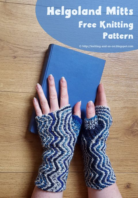 Helgoland Mitts - free knitting pattern by Knitting and so on