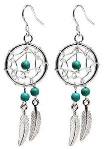 Hand made Silver Dream catcher Earrin...  Order at http://www.amazon.com/Earrings-turquoise-Beautifully-standard-pouchette/dp/B008QZX3YG/ref=zg_bs_3885911_100?tag=bestmacros-20
