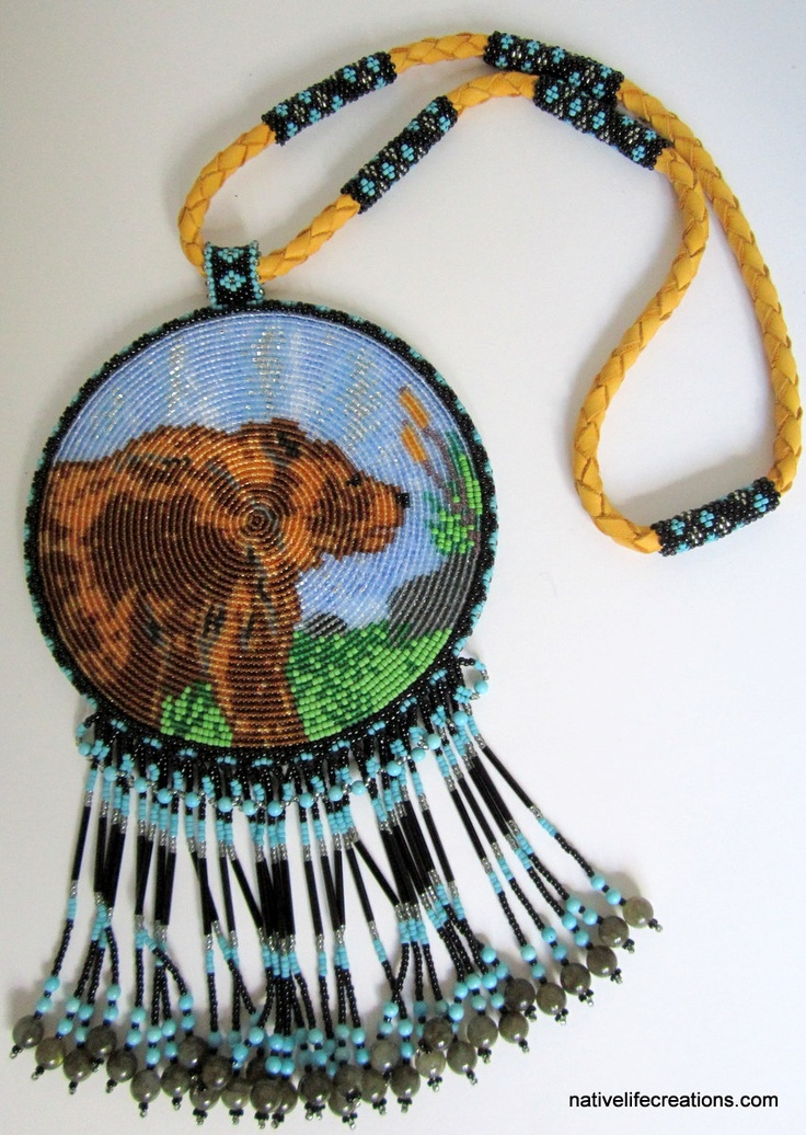 Beaded Bear Totem Necklace