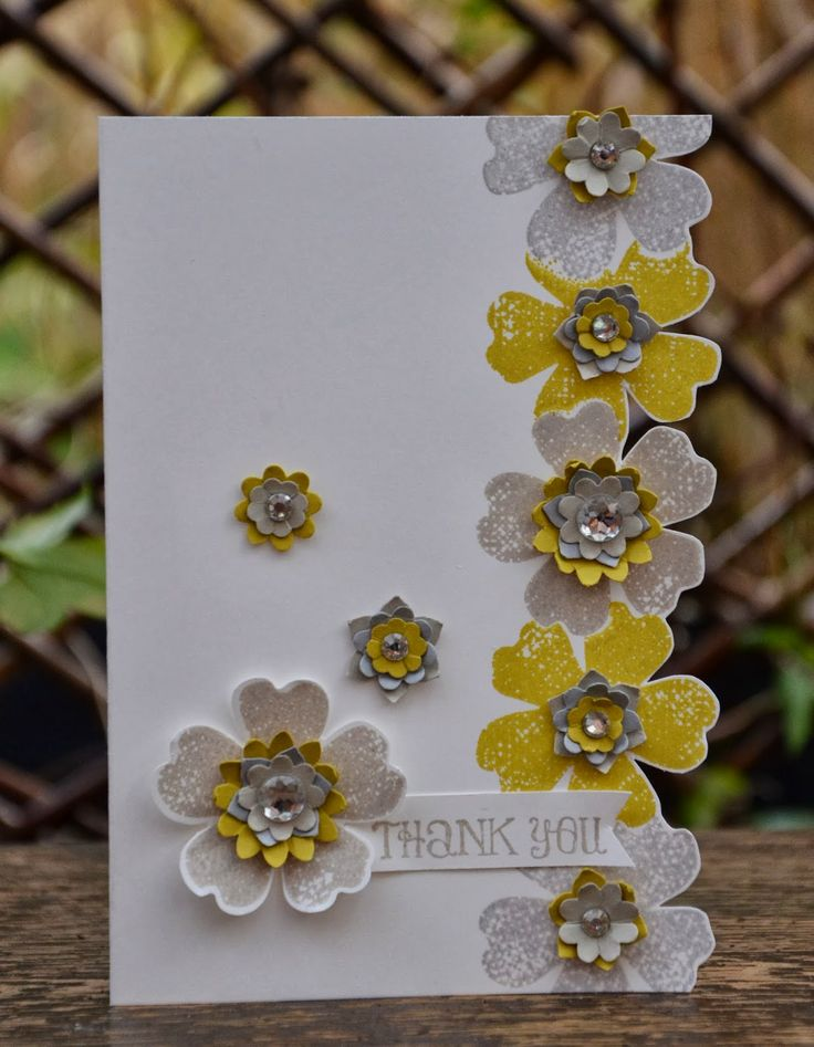 Pretty card by Amanda Burditt--Flower Shop Stamps and Boho Punch