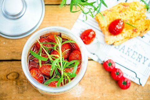 Puolikuivatut tomaatit