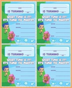 FREE Printable Bubble Guppies Party Supplies
