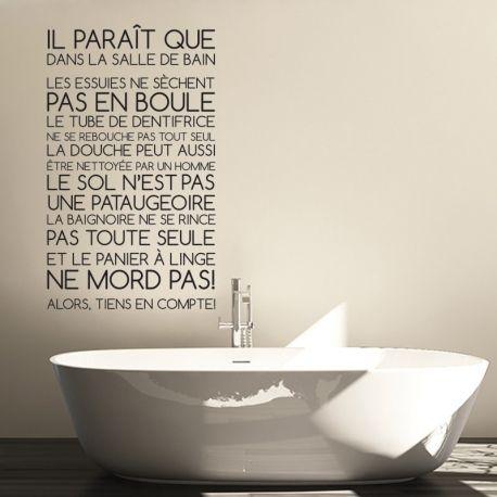 Sticker regles de la salle de bain