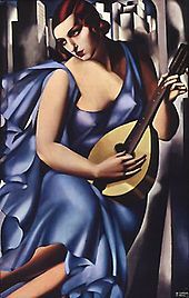 """""""The Musician"""", oil on canvas by Tamara de Lempicka, 1929, stolen in May 1, 2009 from the Scheringa Museum of Realist Art."""
