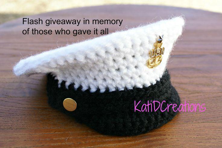 Crochet Military Inspired hat for little ones- Free pattern