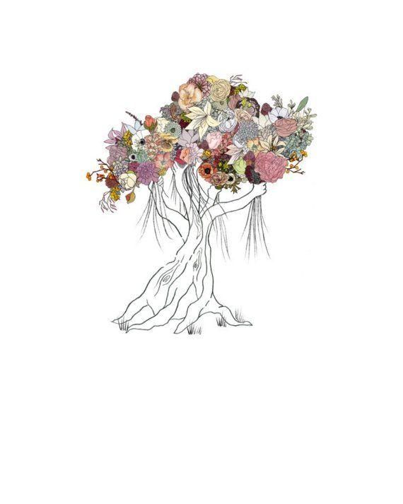 Enchanted Tree flowers. 8x10 print van ChipmunkCheeks op Etsy, $20.00